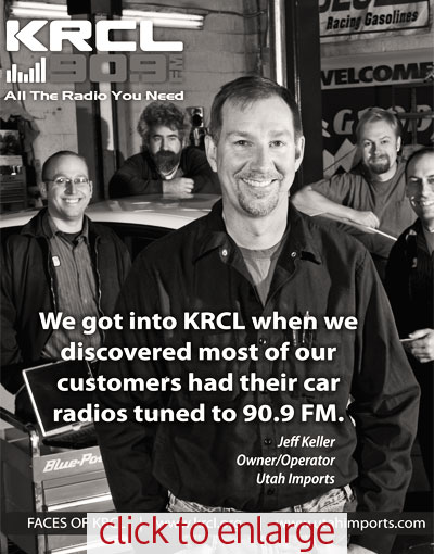 Utah Imports ad for KRCL Radio